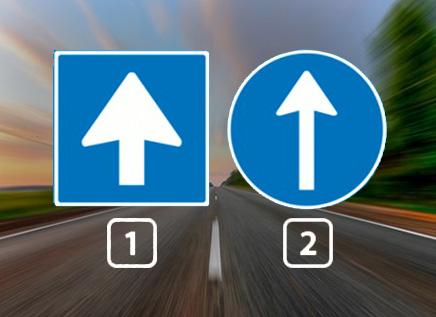 Welk verkeersbord geeft een éénrichtingsweg aan?