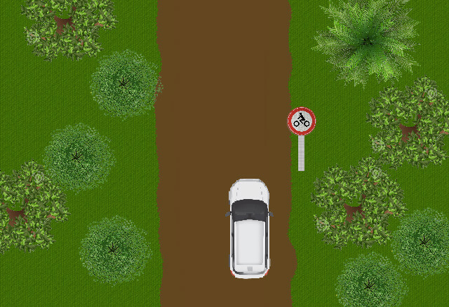 Mag u hier rechtdoor rijden?