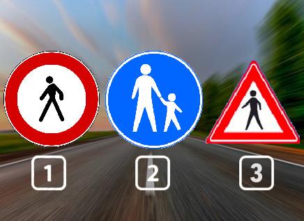 Welk verkeersbord geeft een voetpad aan?