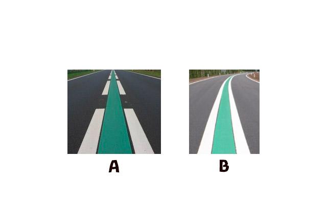 Bij welke afbeelding van wegbelijning mag u maximaal 100 km/uur rijden?