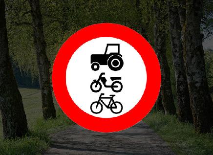 U rijdt een weg in waar het onderstaande bord van toepassing is. mag dat?
