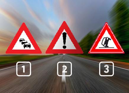 Welk verkeersbord waarschuwt je voor een ongeluk?
