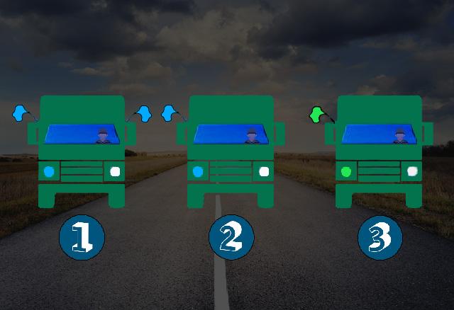 Welk voertuig is het laatste voertuig van een militaire colonne?
