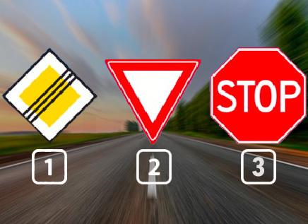 Welk verkeersbord geeft het einde van een voorrangsweg aan?