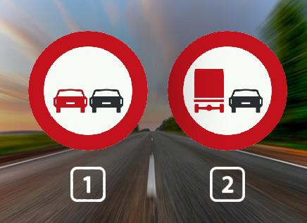 Bij welk verkeersbord mag een bus je inhalen?