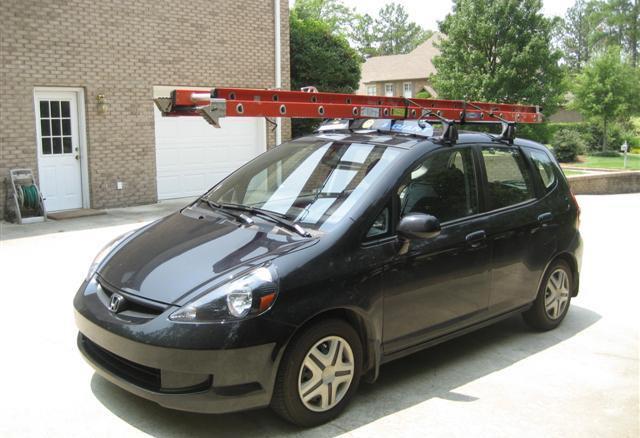U wilt met ladder op de auto gaan rijden. mag dat zo?