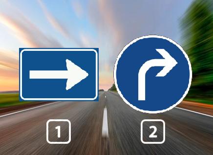 Bij welk bord hoef je geen tegemoetkomende bestuurders te verwachten?