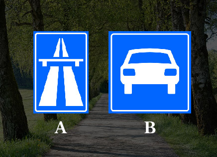 Welk bord geeft een autoweg aan?