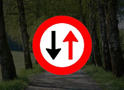 Wat is van sprake wanneer het onderstaande bord van kracht is?