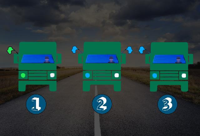 Welk voertuig is het eerste voertuig van een militaire colonne?